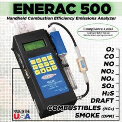 אנלייזר לגזי בעירה ENERAC500