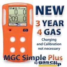 גלאי נייד 4 גזים אישי לאזורים נפיצים  H2S, LEL,CO,O2 דגם MGC-PLUS